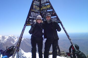 Mark & Tracey - Summit of Toubkal, Atlas Mountains, Apr 2011